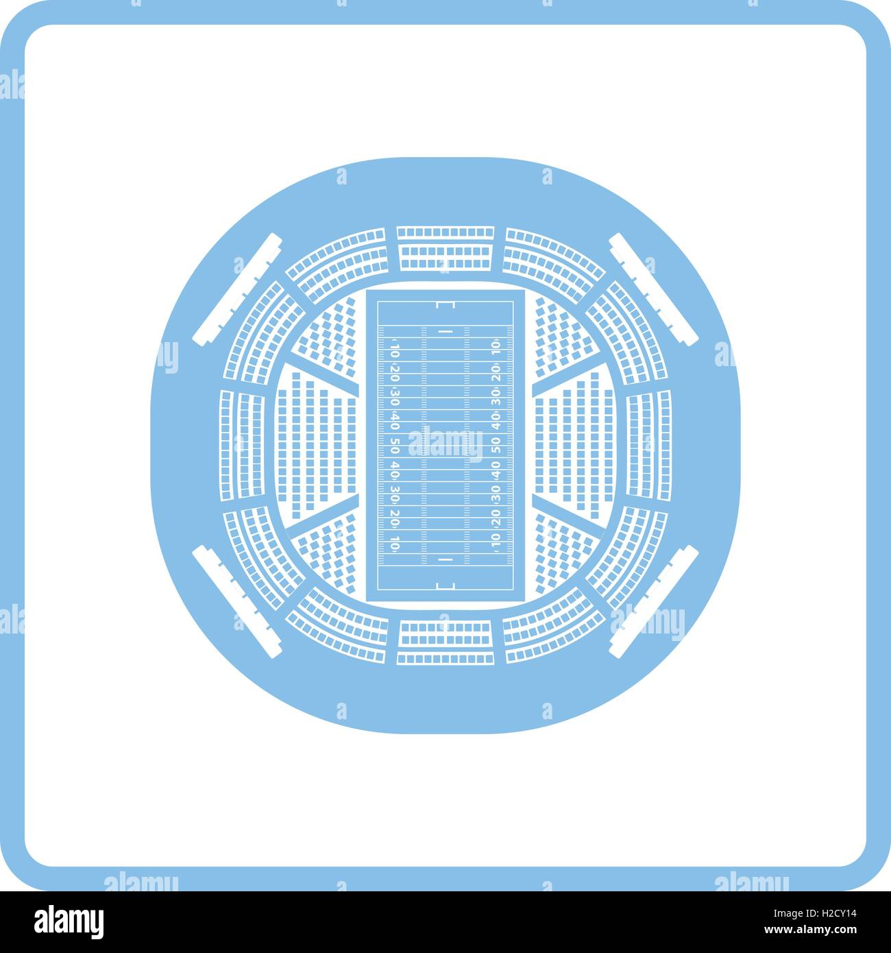 hight resolution of american football stadium bird s eye view icon blue frame design vector illustration