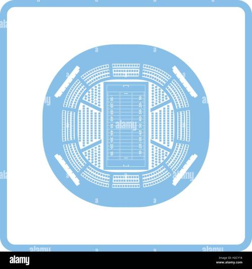 small resolution of american football stadium bird s eye view icon blue frame design vector illustration