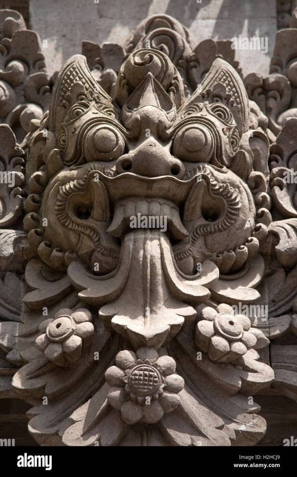 Balinese Stone Head Stock & - Alamy