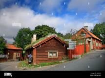 "Traditional """" Swedish Architecture In Skansen Open Air"