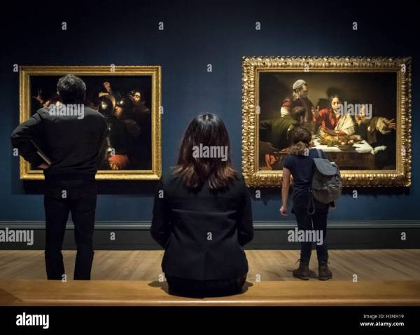 London Uk. 11th October 2016. Caravaggio Exhibition Opens Stock 122790901 - Alamy