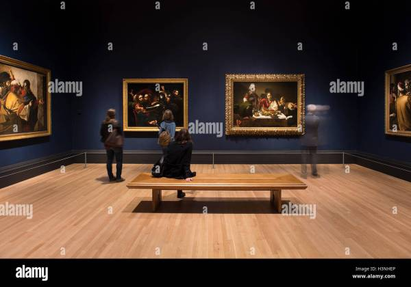 Caravaggio Exhibition London Stock &