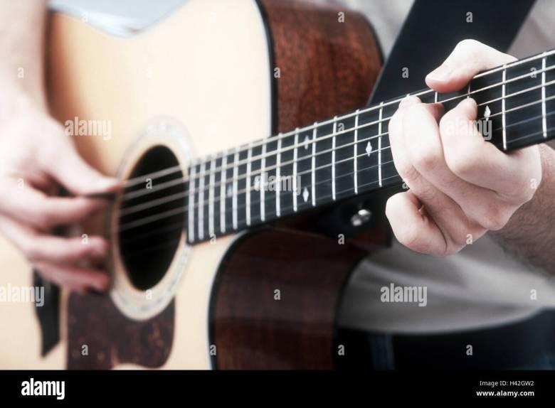 man, guitar, play, detail, man's hands, hands, to guitar games stock