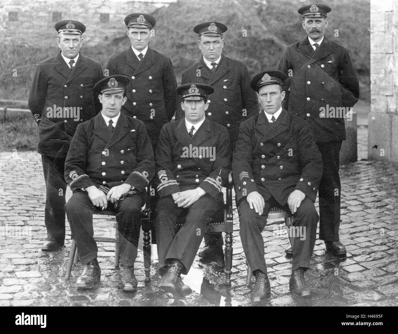 Royal Navy Officer Ww1 Stock Photo