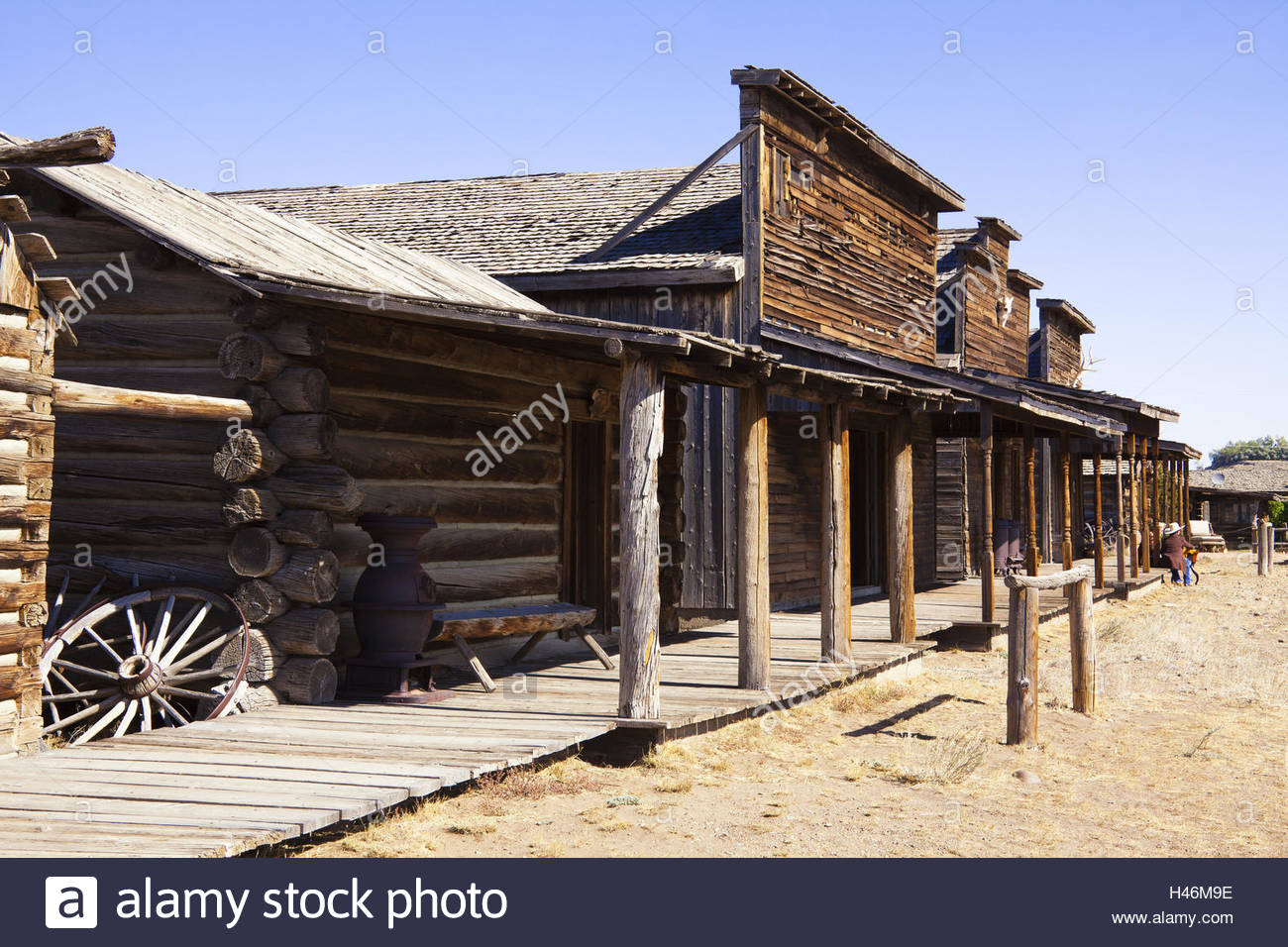 Historical Buildings Wild West Old Trail Town Cody Usa