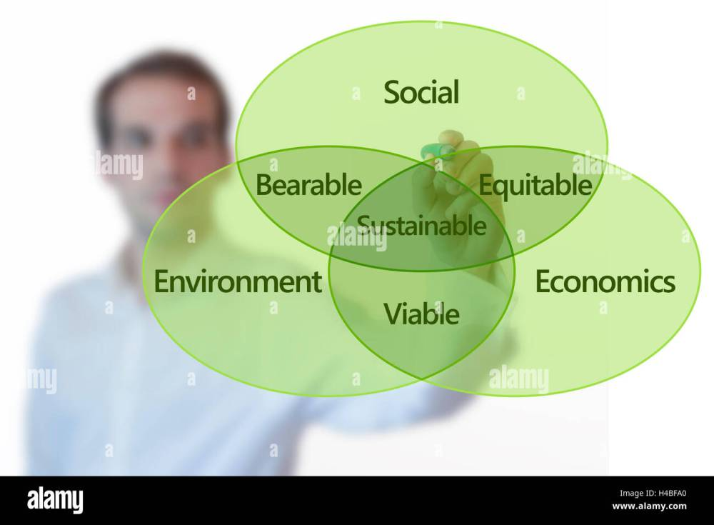 medium resolution of teacher presenting sustainable development concept with venn diagram on glass screen isolated on white