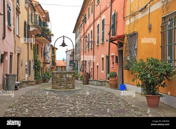 Italy Liguria La Spezia Vezzano Ligure Stock Photo