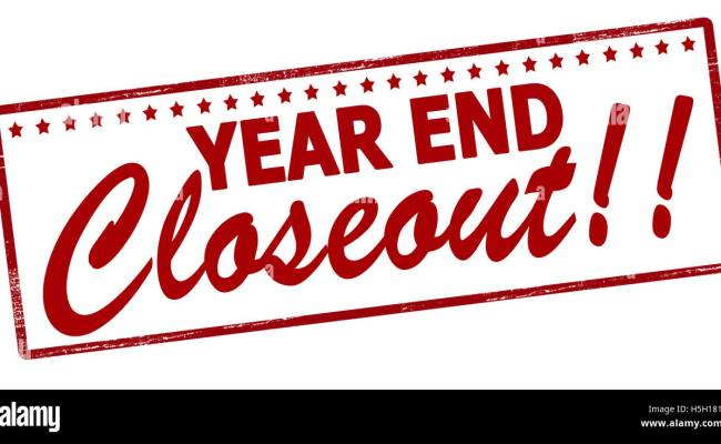Rubber Stamp With Text Year End Closeout Inside Vector