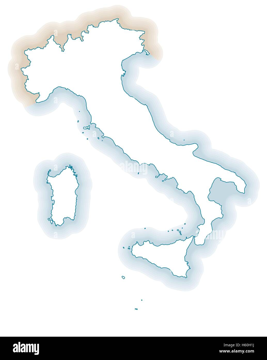Italy Country Outline Stock Photos Amp Italy Country Outline