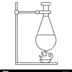 Retort Stand And Clamp Diagram 2005 Jeep Wrangler Ignition Wiring Stock Photos Images Alamy Bunsen Burner Test Flask Icon Image