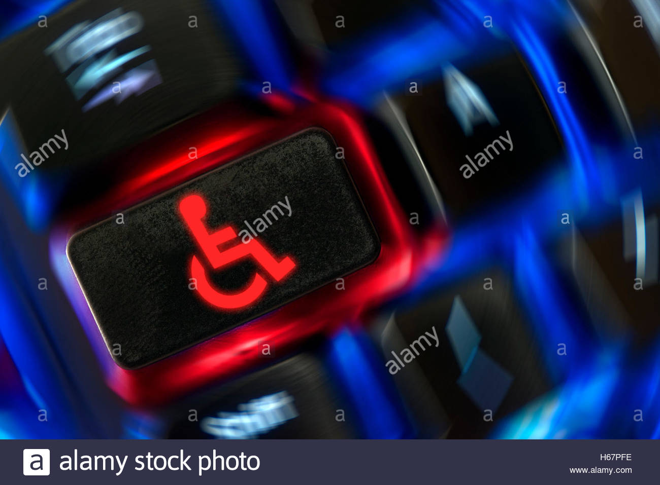 wheelchair emoji potty chairs for special needs shown on a backlit keyboard dorset england uk