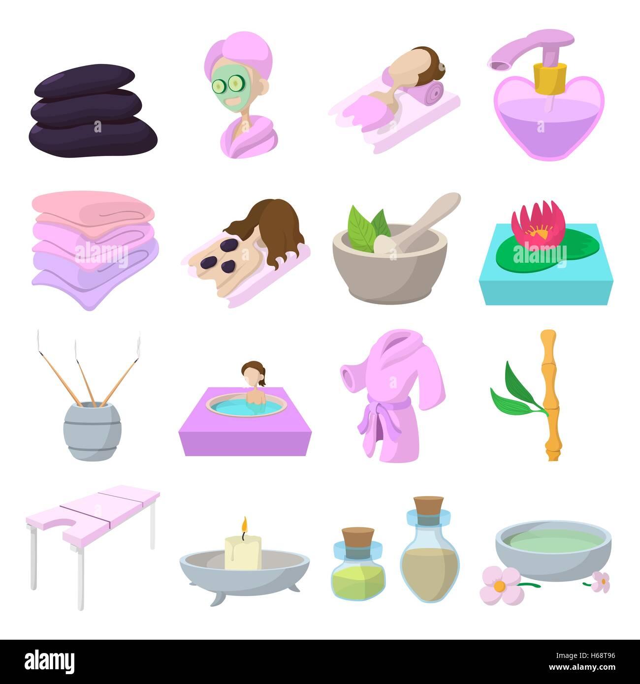 spa cartoon stock photos