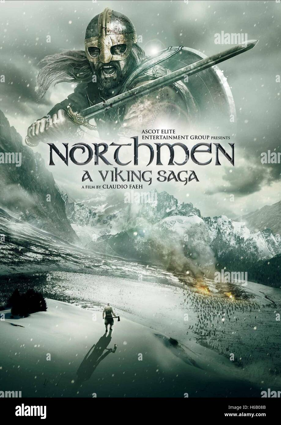 viking, member of the scandinavian seafaring warriors who raided and colonized wide areas of europe from the 9th to the 11th century. Movie Poster Northmen A Viking Saga 2014 Stock Photo Alamy