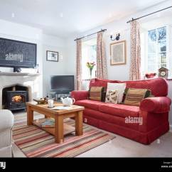 Living Room With Log Burner Curtain Ideas Three Windows A Cosy Fireplace Wood In Comfortable Country Home