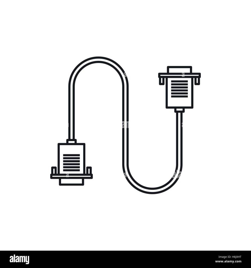 medium resolution of cable wire computer icon outline style