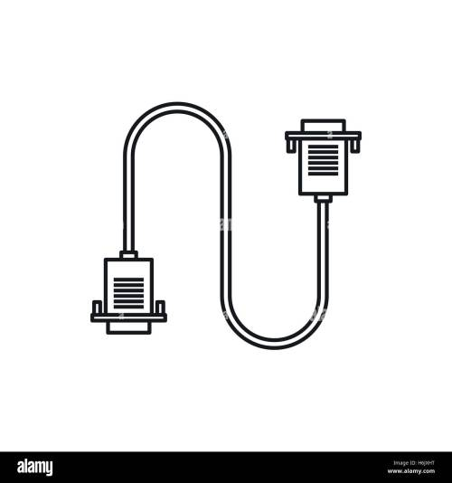 small resolution of cable wire computer icon outline style