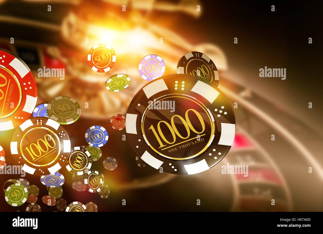 golden casino roulette chips