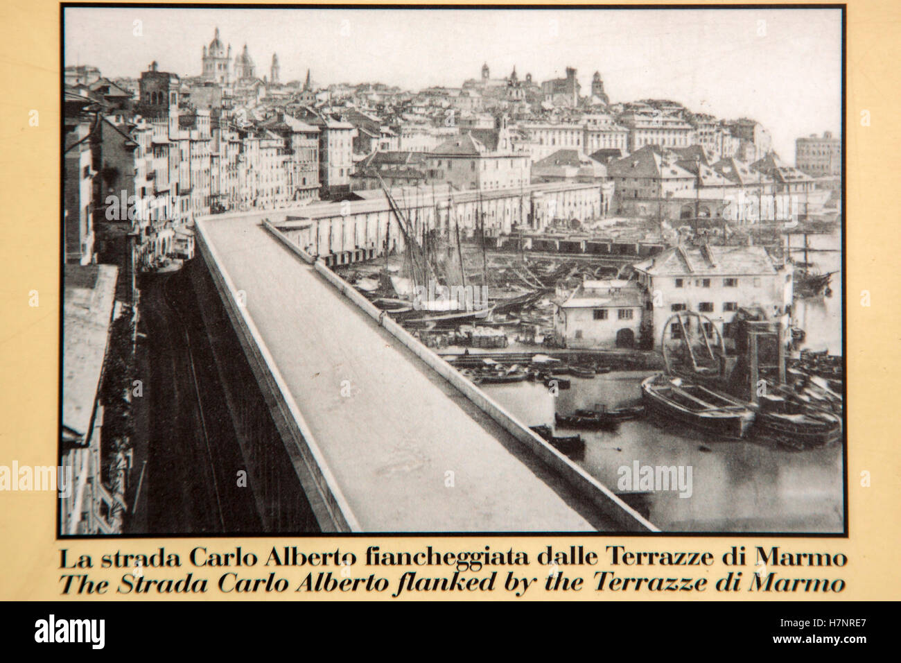 Old photography the Strada Carlo Alberto flanked by
