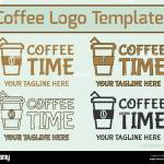 Coffee Logo Design Modern Logotype Style In Line Fill And Stock Vector Image Art Alamy