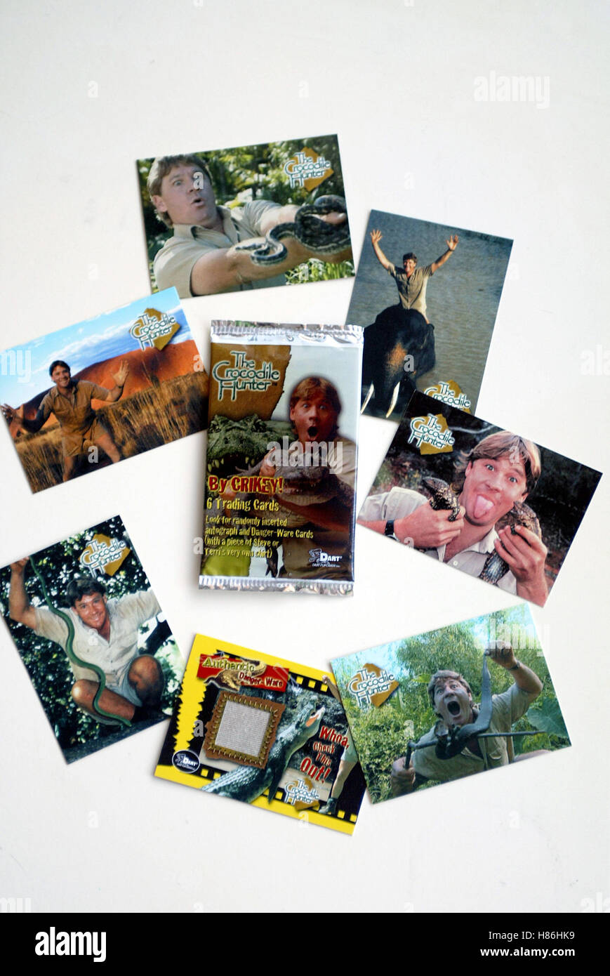For some extra security to fall back on if times get tough or to help build y. Crocodile Hunter Trading Cards Trading Cards Usa Los Angeles Los Angeles Usa 20 December 2002 Stock Photo Alamy