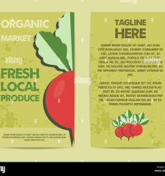 stylish farm fresh flyer template or brochure design mock up design with shadow vintage colors best for natural shop organic fairs eco markets and  [ 1300 x 1132 Pixel ]