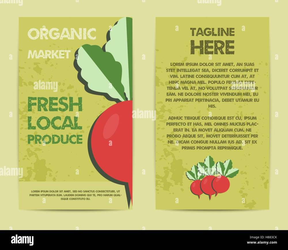 medium resolution of stylish farm fresh flyer template or brochure design mock up design with shadow vintage colors best for natural shop organic fairs eco markets and