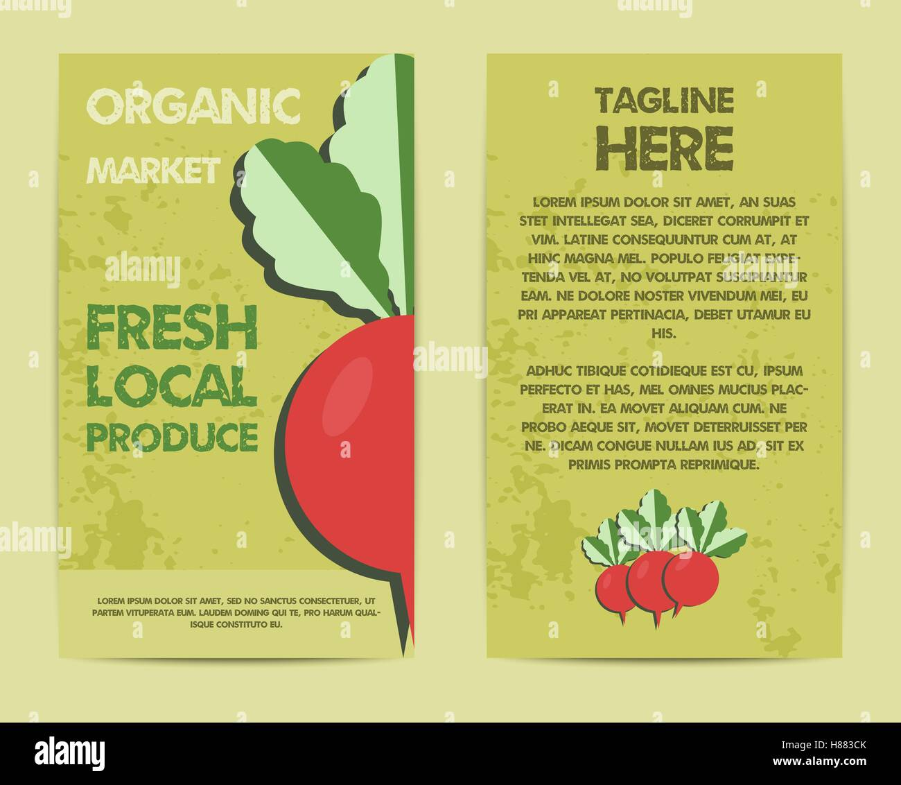 hight resolution of stylish farm fresh flyer template or brochure design mock up design with shadow vintage colors best for natural shop organic fairs eco markets and