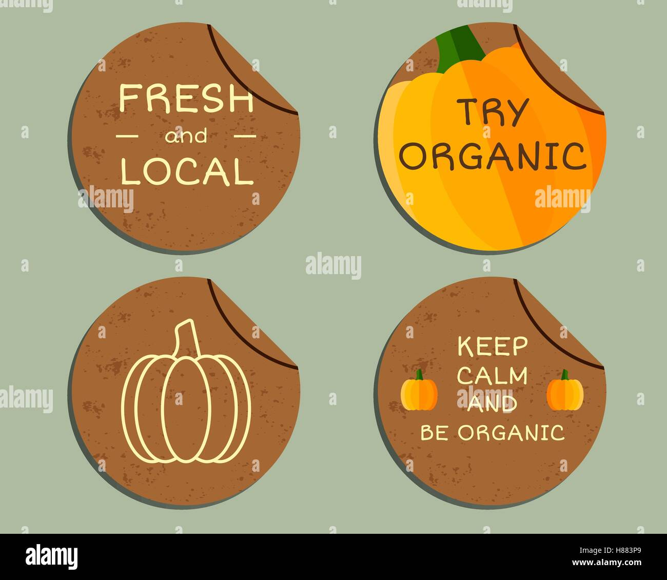 hight resolution of organic farm corporate identity design with pumpkin branding your eco shop company labels badges mock up design best for natural shop organic fairs