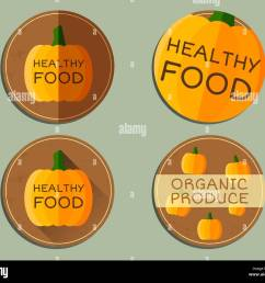organic farm corporate identity design with pumpkin branding your eco shop company ecology labels badges mock up design best for natural shop fairs  [ 1300 x 1130 Pixel ]