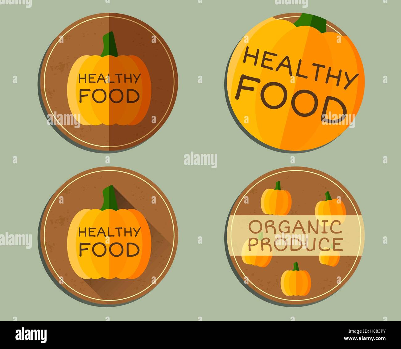 hight resolution of organic farm corporate identity design with pumpkin branding your eco shop company ecology labels badges mock up design best for natural shop fairs