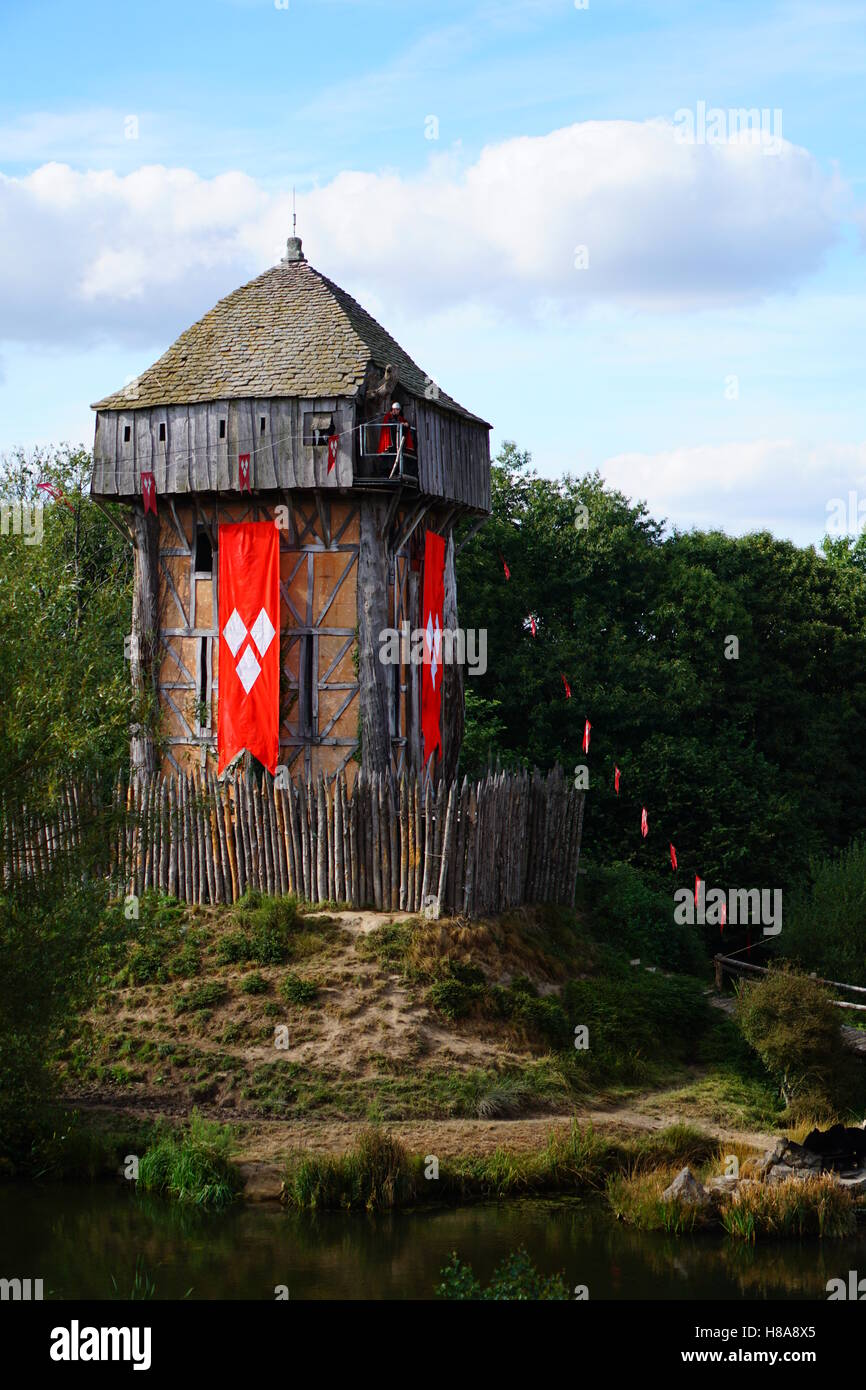 Puy Du Fou Les Vikings : vikings, Viking, Tower, Stock, Photo, Alamy
