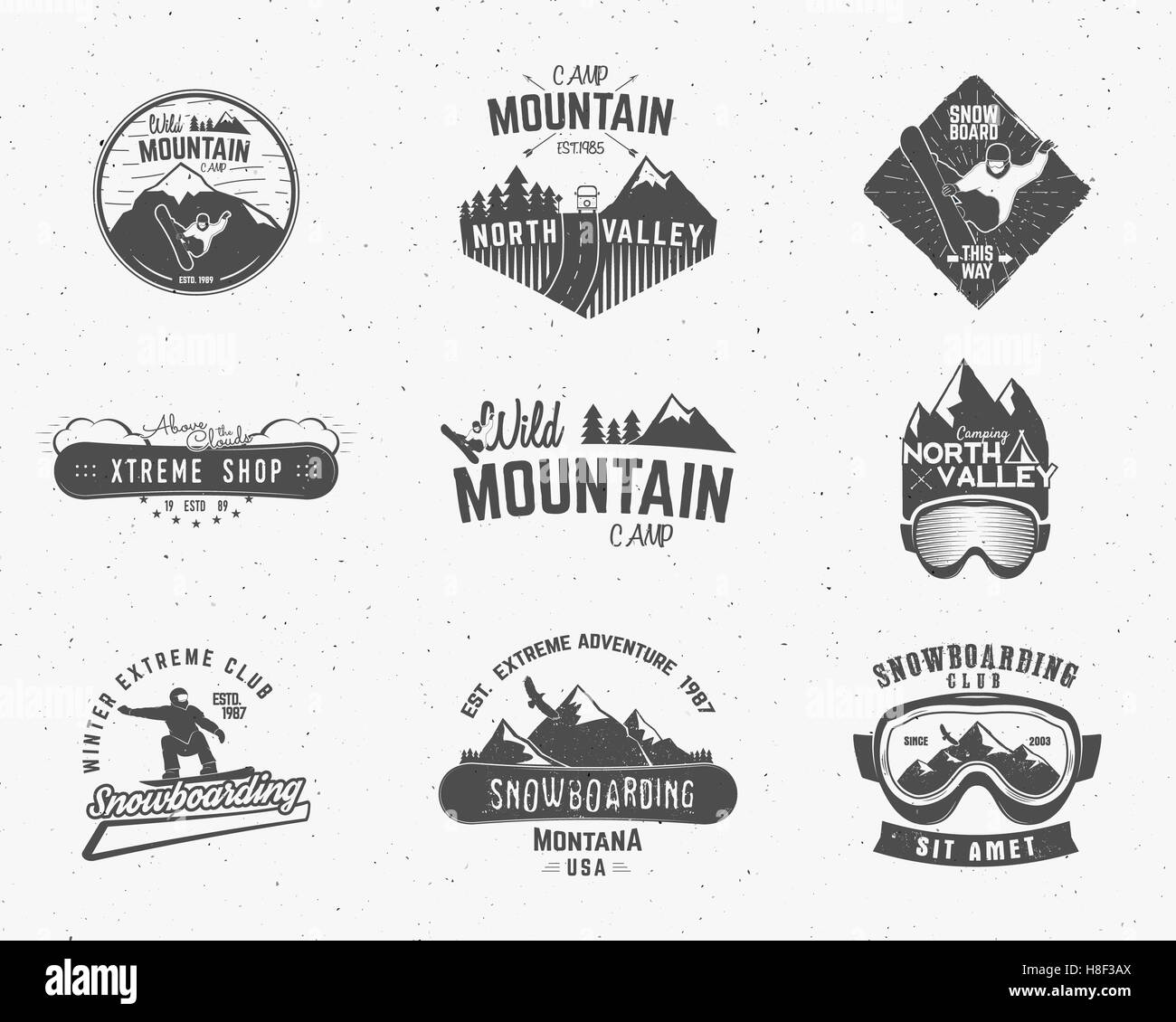 set of mountain camp