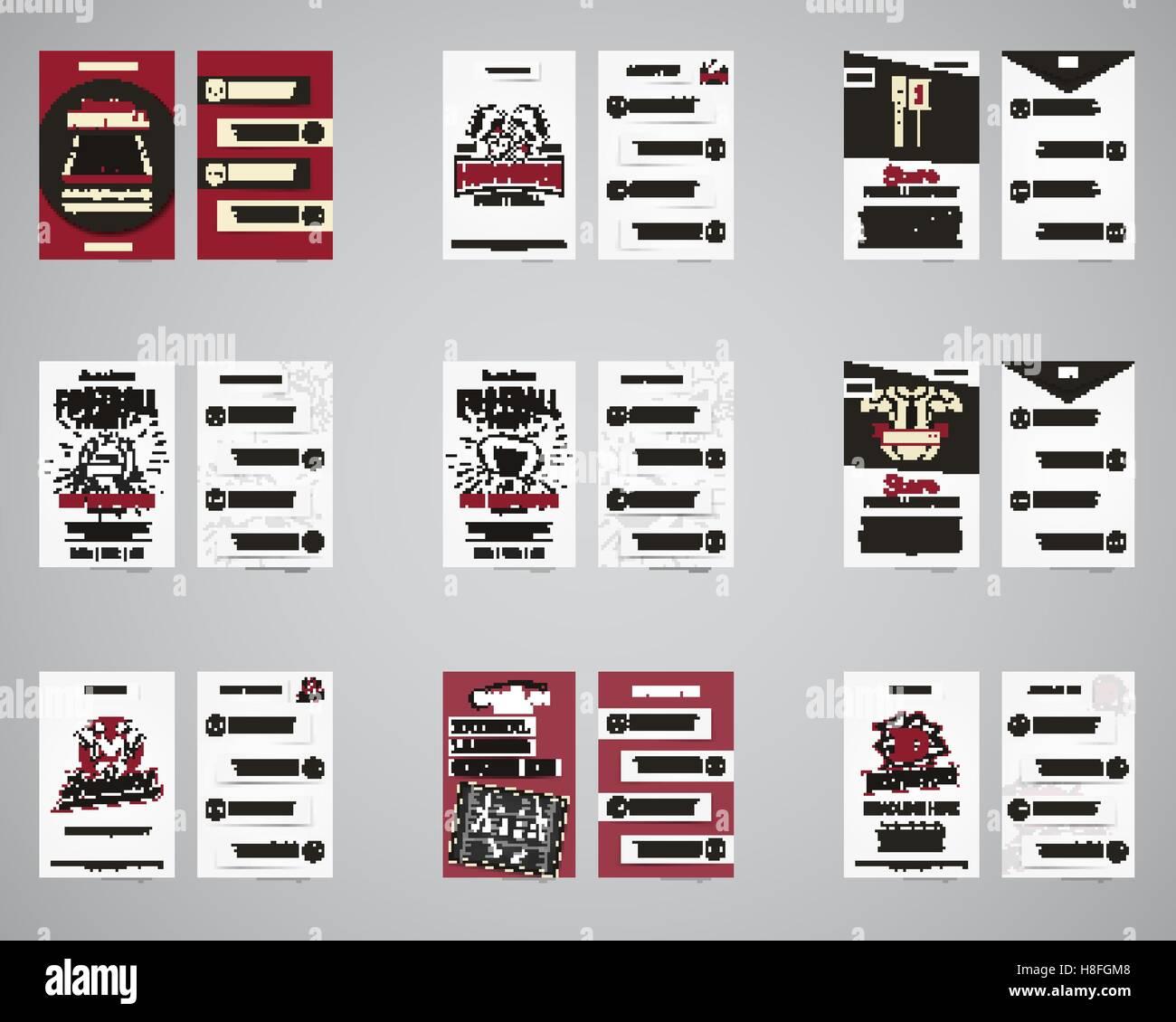 American football brochure set. Flyer templates design collection ...
