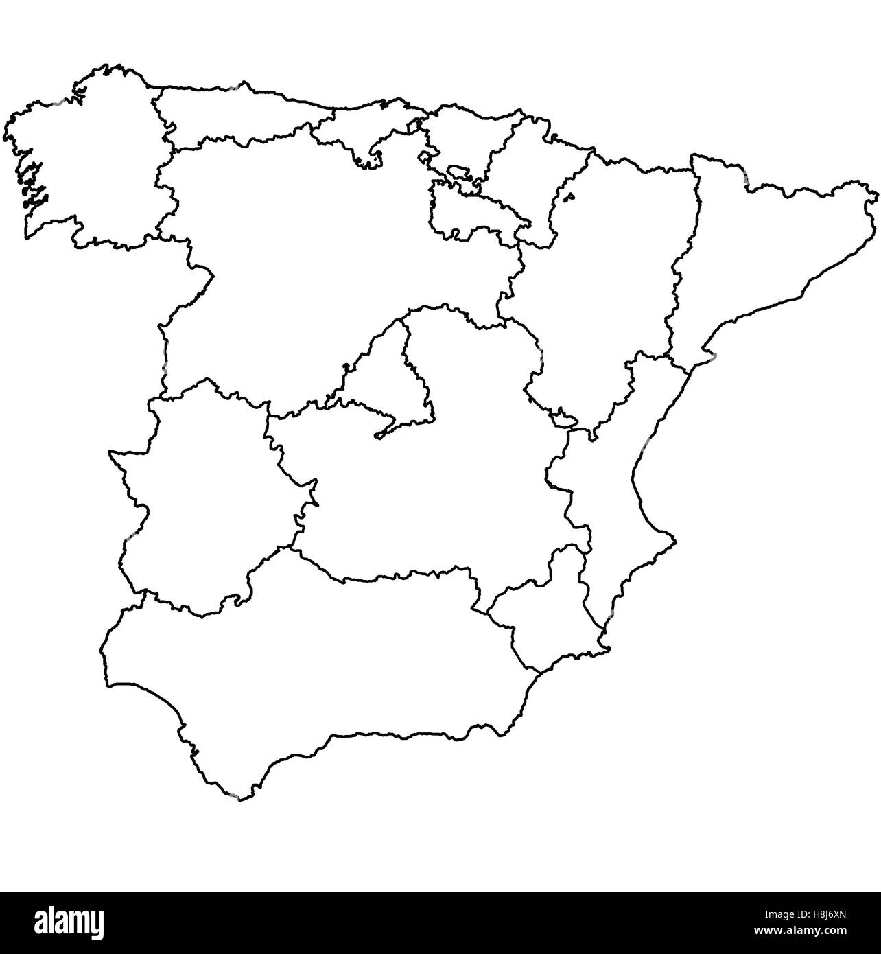 Madrid Map Black And White Stock Photos Amp Images