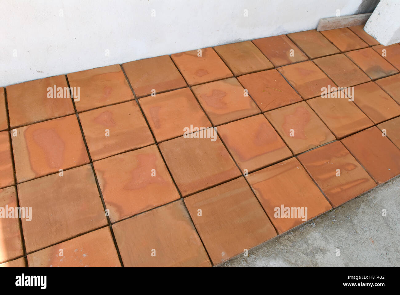 https www alamy com stock photo red clay tiles used in mexican home 125919894 html