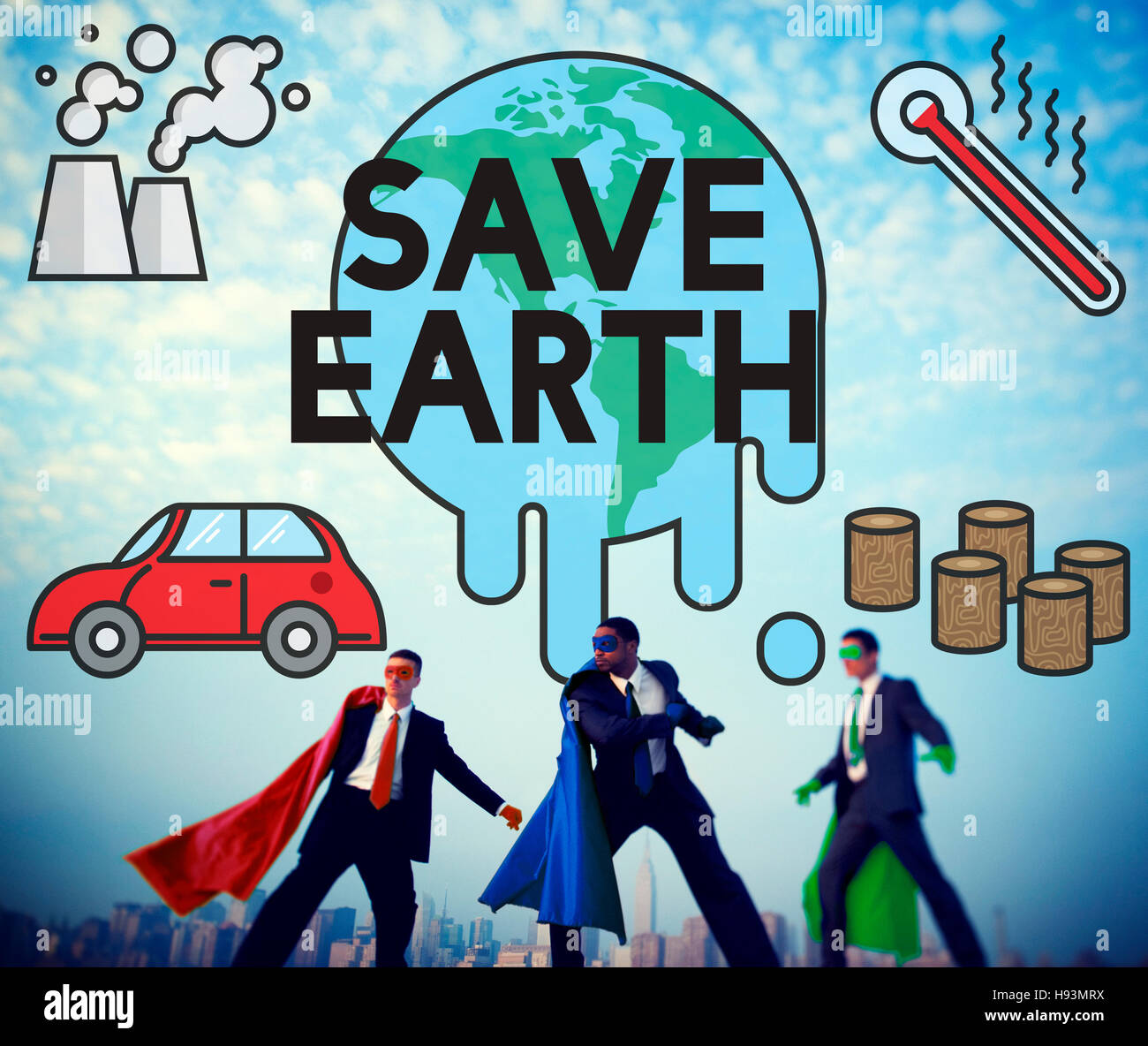 Temperature Save Earth Pollution Planet Environment