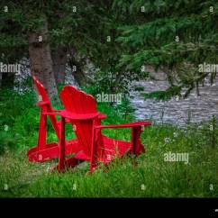 New River Adirondack Chairs Linen Hero By Chair Covers And Linens Lawn Stock Photos