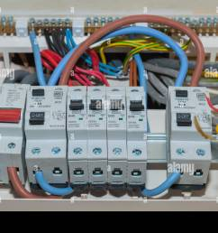 a rcd fuse box in the uk stock photo 126321602 alamy rcd fuse box installation cost [ 1300 x 956 Pixel ]