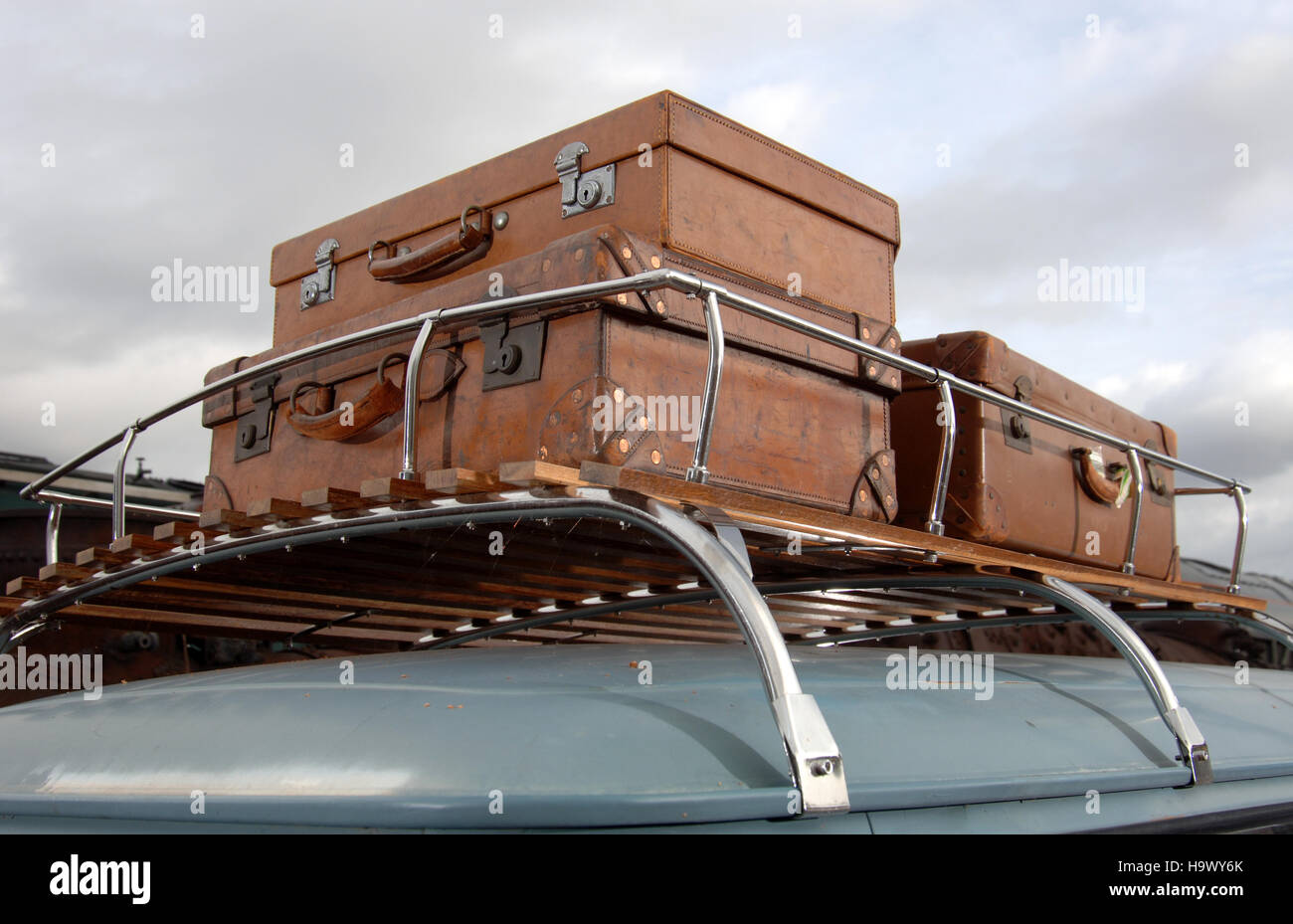Old Roof Rack Stock Photos & Old Roof Rack Stock Images