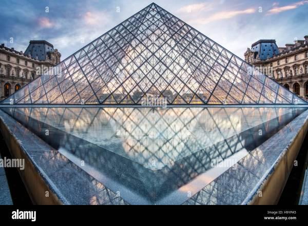Louvre Entrance Stock & - Alamy