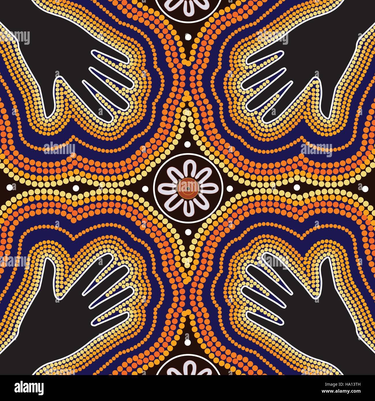 Aboriginal Art Vector Painting Stock Vector Art
