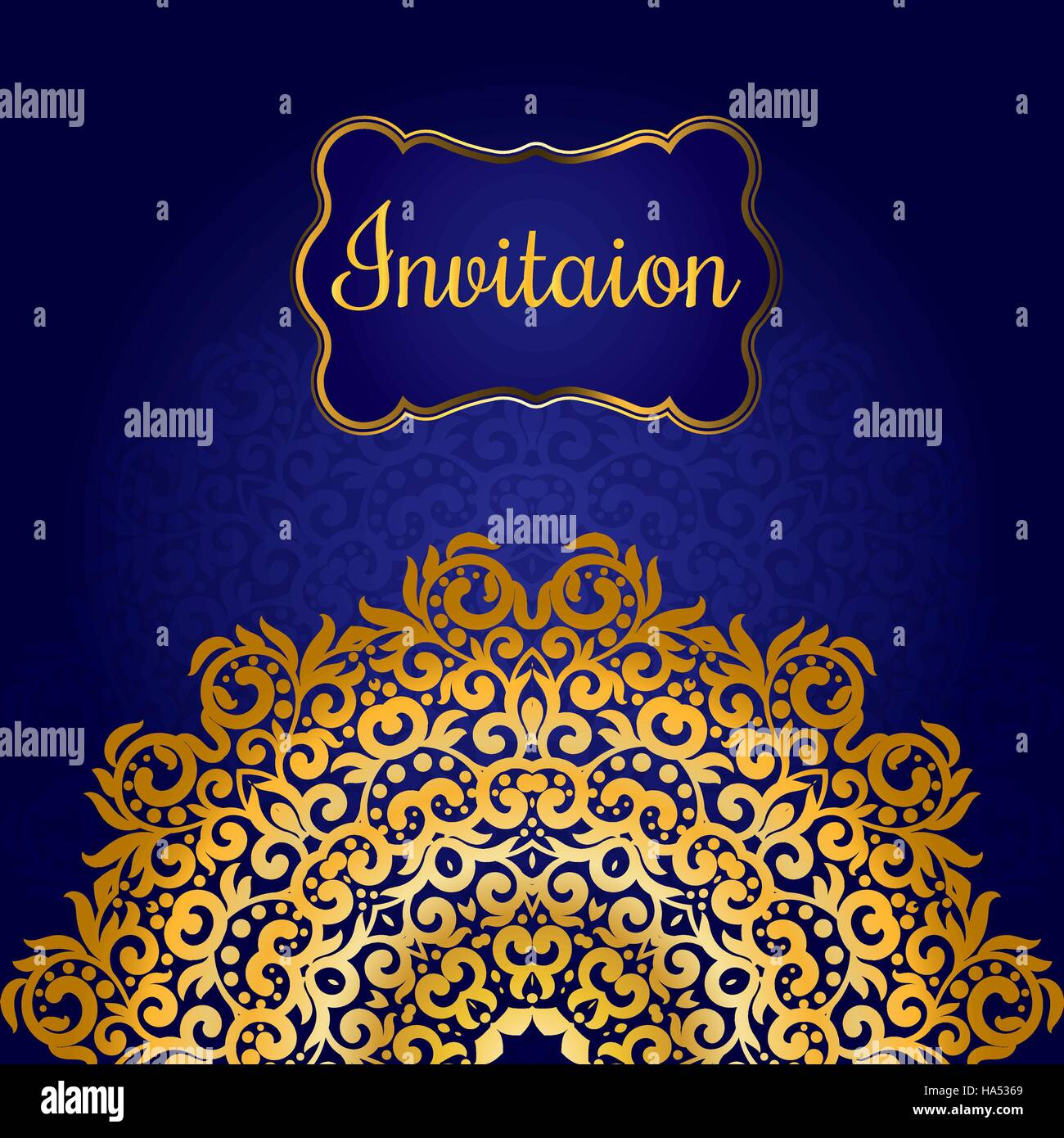 https www alamy com stock photo rich gold invitation card in the indian style bohemian cards with 126731425 html