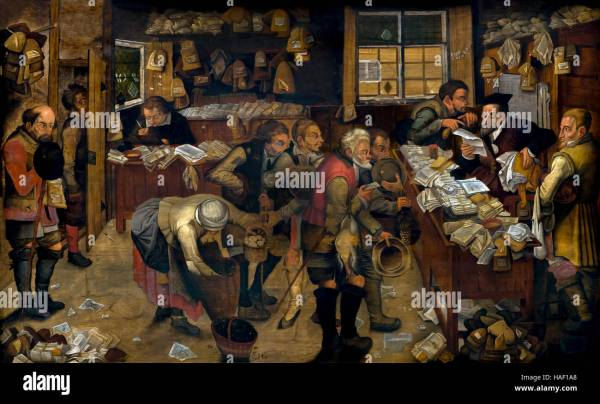 Village Lawyer Pieter Brueghel Younger 1621 Museum Of Fine Stock Royalty Free