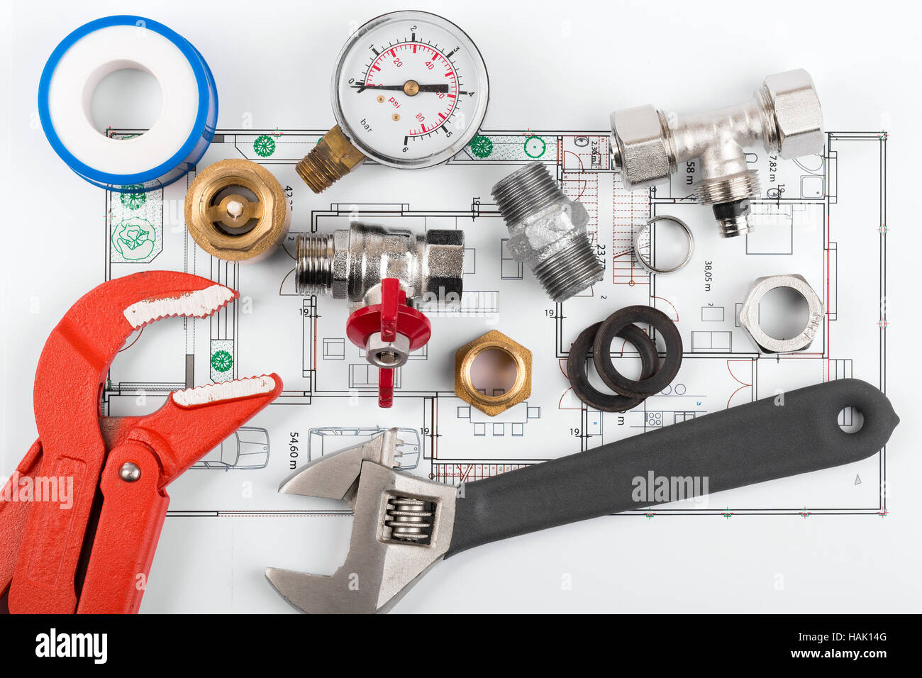 Plumbing Tools High Resolution Stock Photography And Images Alamy