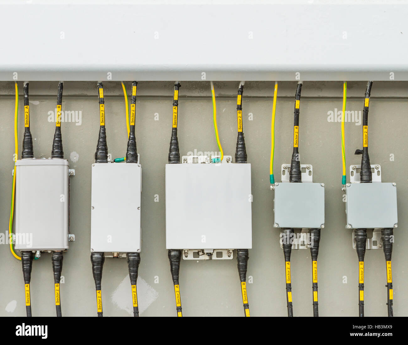 hight resolution of main circuit box breaker in factory stock image