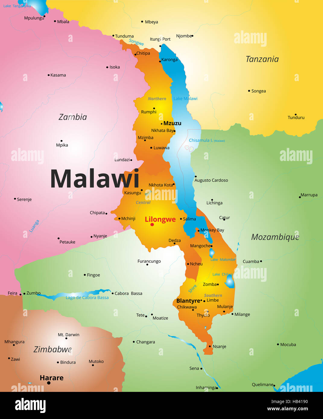 3d Kenya Flag Live Wallpaper Color Map Of Malawi Country Stock Photo 127322636 Alamy