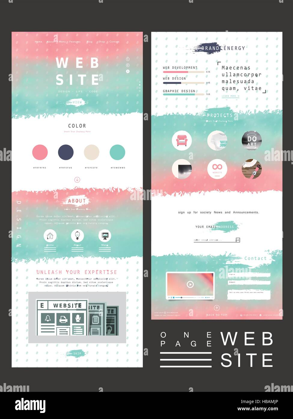 17/02/2021· 25 photography website templates for professional and hobby photographers 2021. Creative One Page Website Template Design With Smooth Colorful Background Stock Vector Image Art Alamy