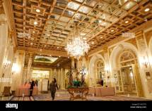 Copley Plaza Hotel Lobby Boston Massachusetts Stock