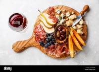 Meat and cheese plate antipasti snack with Prosciutto ham ...