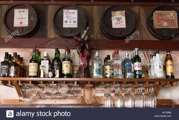 Emilio Bacardi House Of Rum Brand Labels In Oak Wooden Barrels Stock Royalty Free